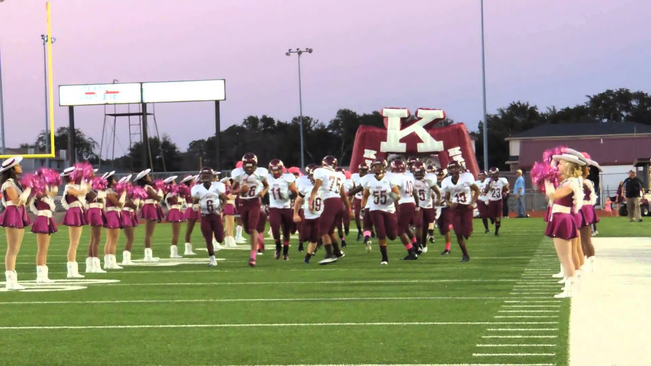Killeen High School Varsity Roos inaugurate the brand new tunnel 10-4-2013  during Fight Song