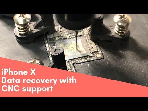 IPhone X Hardware Data Recovery With CNC Support / восстановление информации с помощью ЧПУ станка