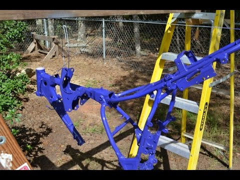Painting A Motorcycle Frame Youtube