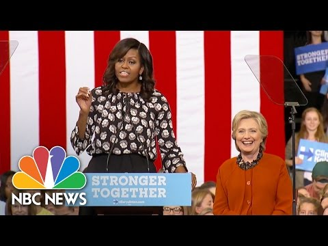 Michelle Obama: We've Never Had A More Qualified Candidate Than Hillary Clinton   NBC News