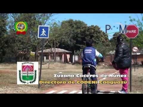 Foro Educación Vial Infantil en Caaguazú Paraguay - Codeni Caaguazú Fundación DEQUENI
