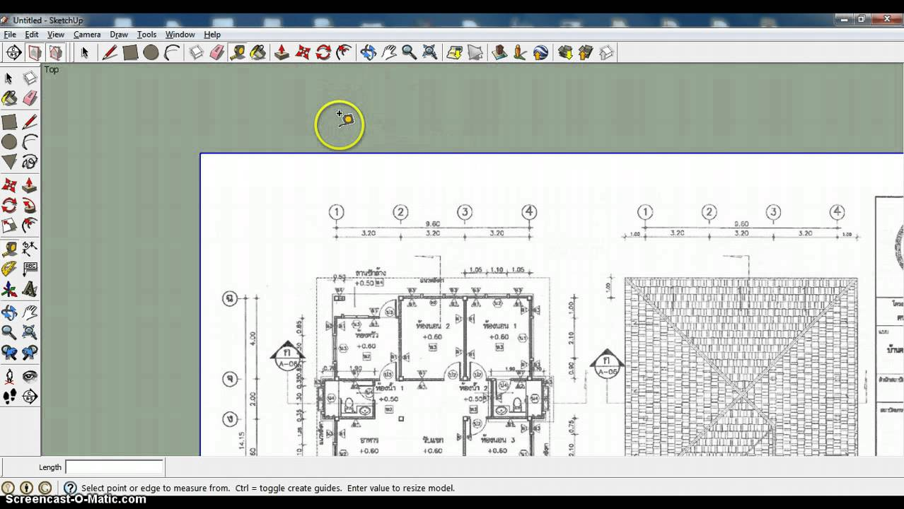 Import house plans into sketchup