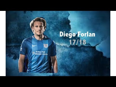 Diego Forlan 科蘭  - All 5 goals for Kitchee (17/18)   Age is just a number