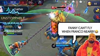70% SUCCESSFUL FRANCO HOOKS MYTHIC RANKED FULL GAMEPLAY