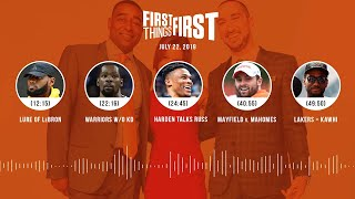 First Things First audio podcast (7.22.19)Cris Carter, Nick Wright, Jenna Wolfe | FIRST THINGS FIRST