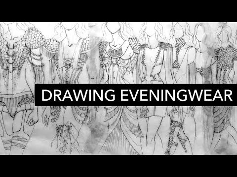Drawing Avant-Garde Eveningwear Inspired by Football Uniform Padding
