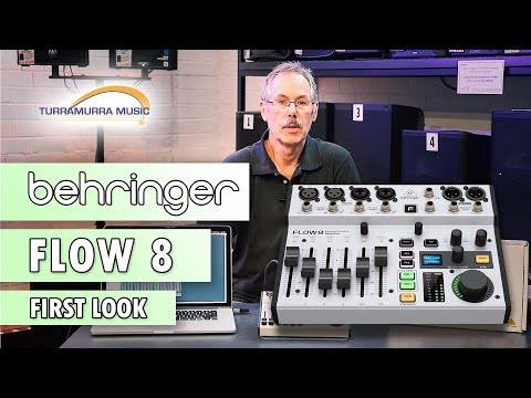 Behringer Flow 8 Digital Mixer - First Look at Turra Music