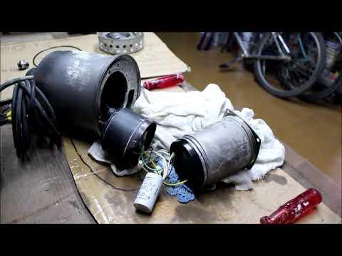 Bomba de agua sumergible. Reparación y funcionamiento.