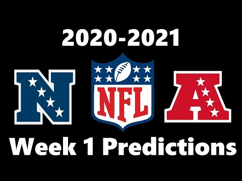 NFL Week 1 Predictions 2020! Predicting Every Matchup