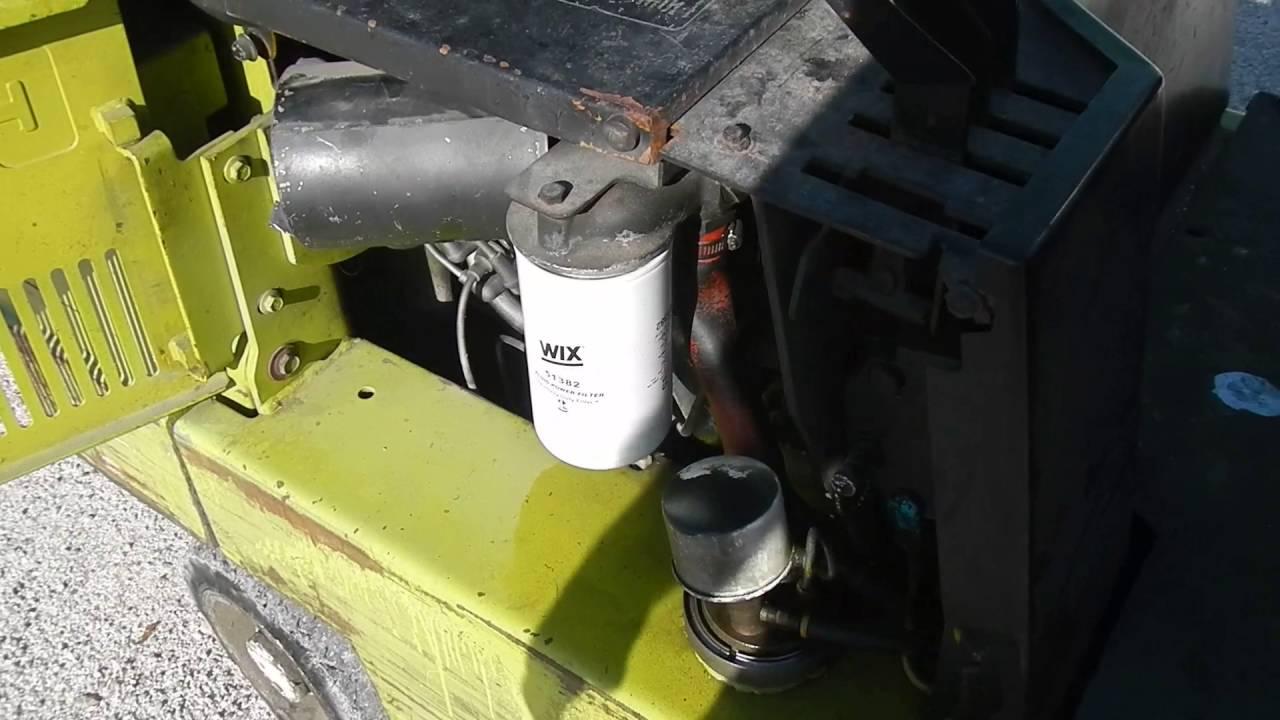 CLARK Forklift Maintenance  YouTube