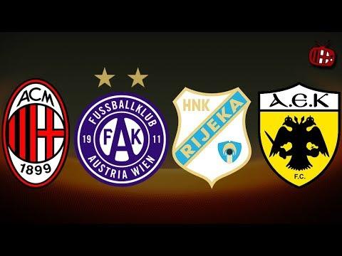 UEFA EUROPA LEAGUE DRAW REACTION   AC MILAN, AUSTRIA WIEN, RIJEKA, AEK ATHENS