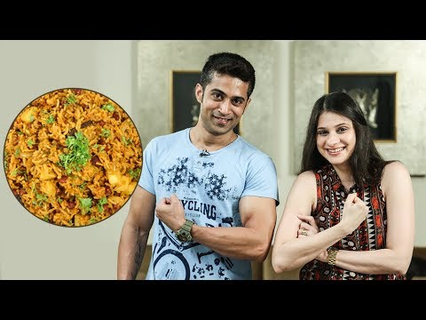 Rajma Pulao Recipe   How To Make Red Beans Rice   Ruchi's Kitchen ft. Fitness Special with Royston