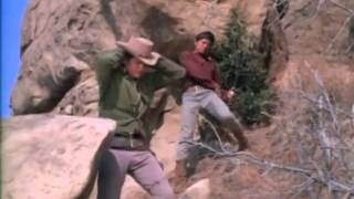 "Michael Landon vs. Charles Bronson in a fight to the death on ""Bonanza"""