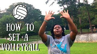 how to set a volleyball beginners