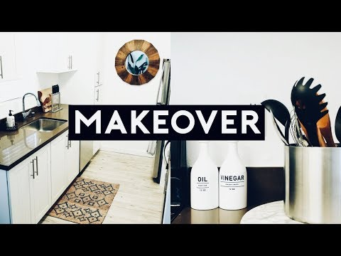 APARTMENT KITCHEN MAKEOVER ON A BUDGET! MINIMAL + AESTHETIC 2019 | Nastazsa