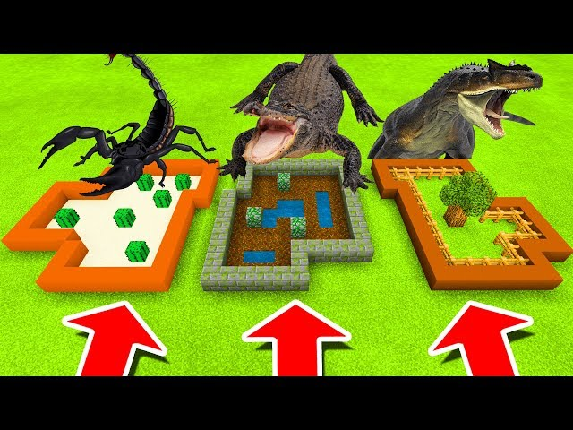Minecraft PE : DO NOT CHOOSE THE WRONG FARM! (Scorpion, Alligator & Allosaurus)