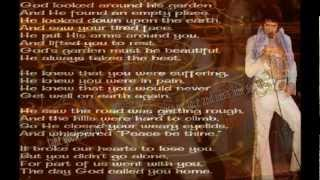 Elvis Presley-Take Me Home,Precious Lord-with Lyrics