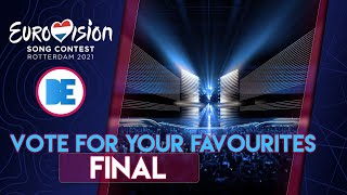 Eurovision 2021: Final - Vote for your favourites!