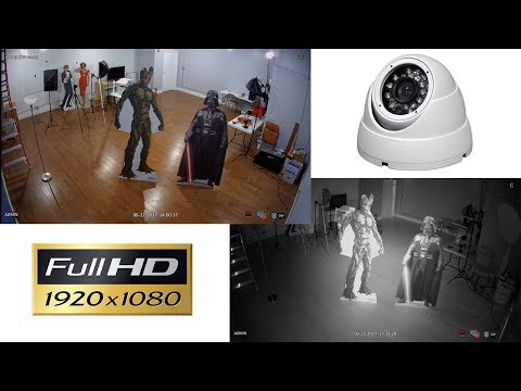 1080p HD Dome Security Camera Infrared Video Surveillance