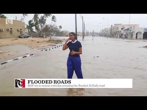 Cyclone Mekunu: Roads flooded in Salalah