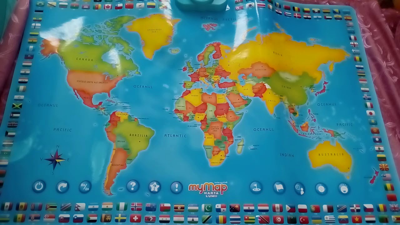 Harta Interactiva A Lumii Bilingv De La Momki Youtube