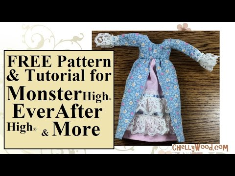 Sew a Dress for Monster High and 8 Inch Dolls with FREE Pattern ...
