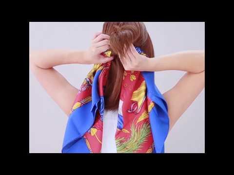 西班牙 BUFF 圍巾造型教學 | Doovi