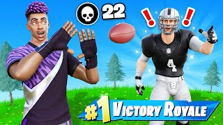 I played Fortnite with an NFL Superstar.. This HAPPENED!
