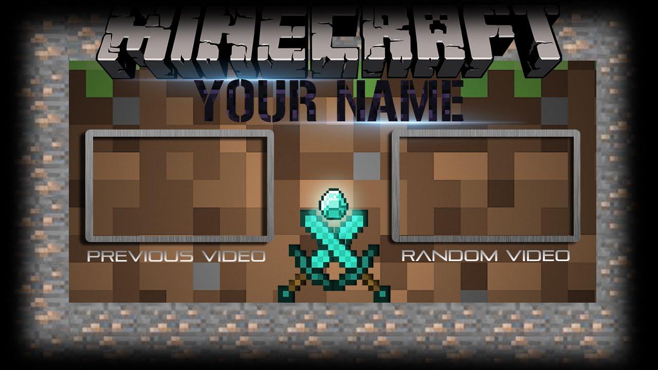 minecraft outro template movie maker - free minecraft outro template 6 youtube