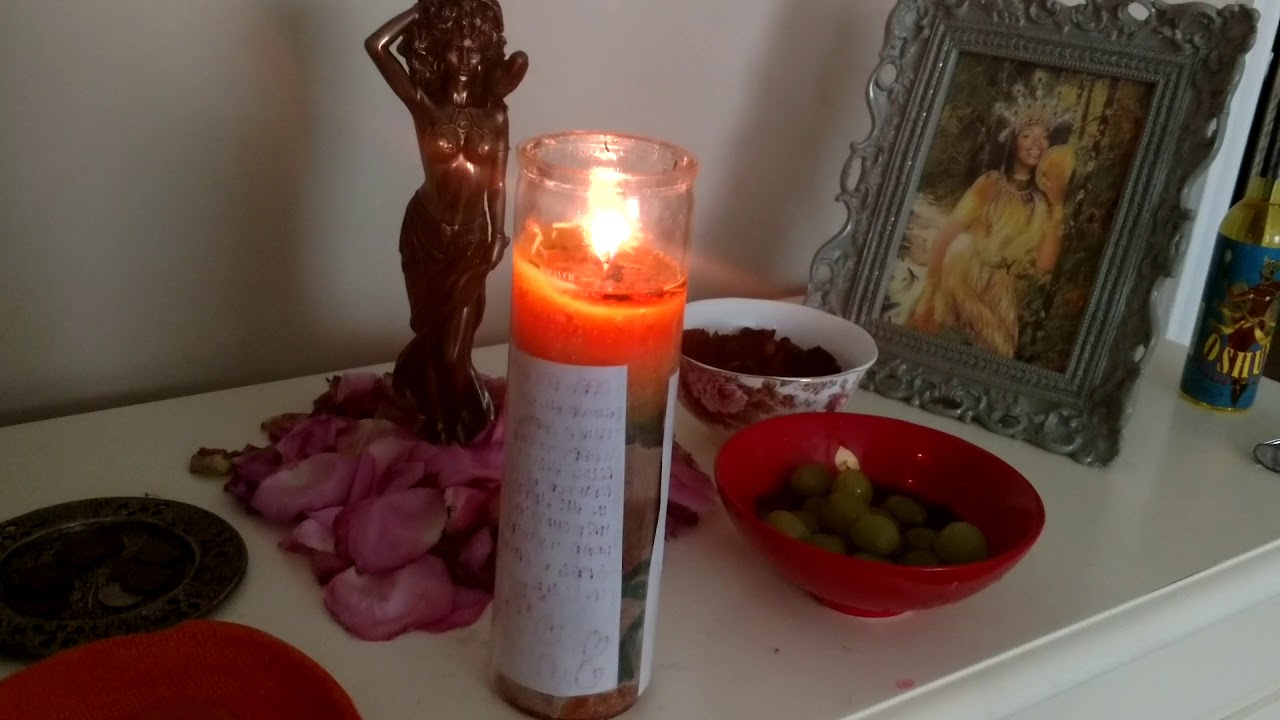 Working with Oshun - Road Opener Vigil Candle