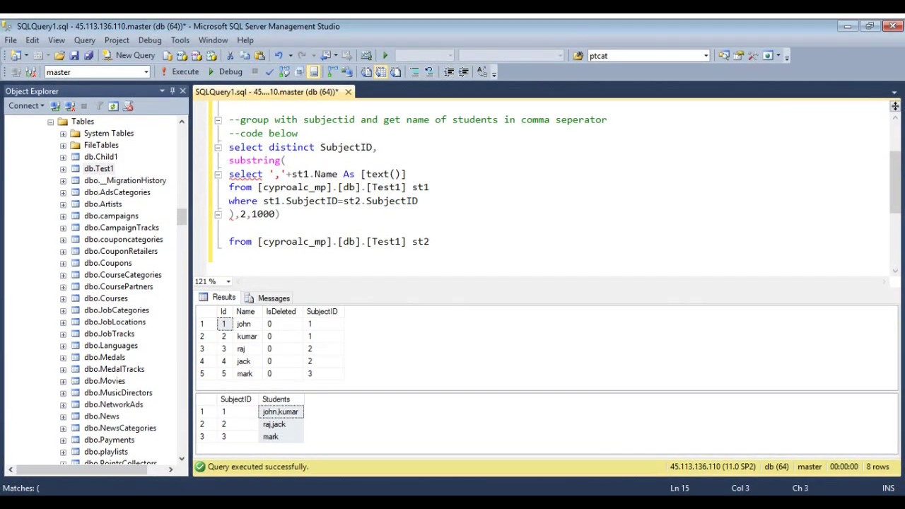 How to concatenate text from multiple rows into a single text string in SQL server? - YouTube