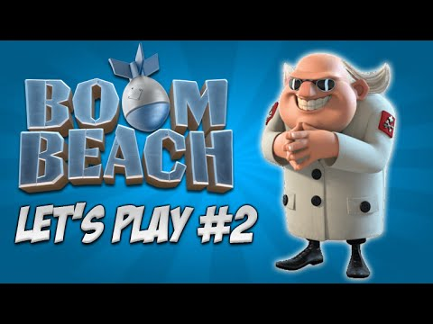 ★Boom Beach Let's Play - Headquarters Upgrading: Live Episode 2★