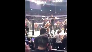 KHABIB JUMPS OUT OF OCTAGON AND ATTACKS MCGREGOR