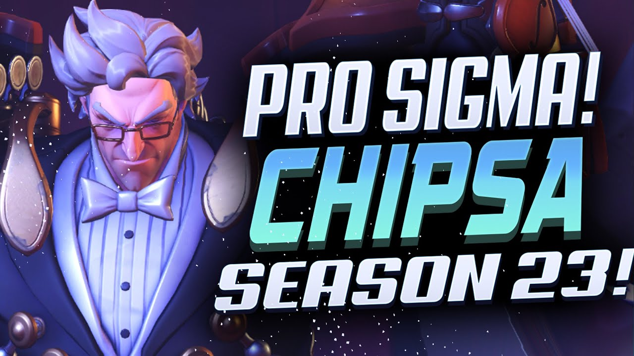 CHIPSA TOXIC SIGMA IN PLATINUM RANK! [ OVERWATCH SEASON 23 TOP 500 ]