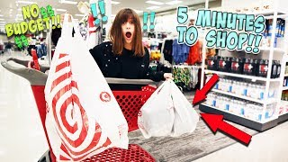 5 MINUTES TO SHOP FOR WHATEVER I WANT IN TARGET!!