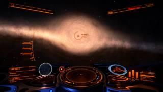 Elite Dangerous: Черная дыра, преломление света звезд