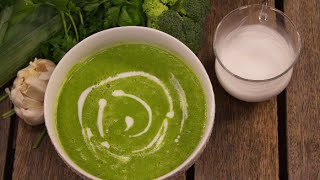 How To Make A Fresh And Very Healthy Green Soup! - That Tastes Good!