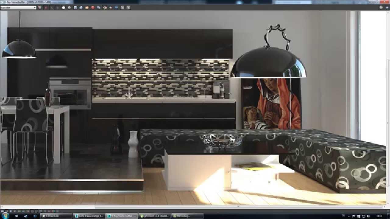 Vray nterior rendering tutorial final part 6 vray - 3ds max vray render settings interior ...