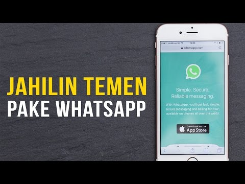 Cara Jahilin Teman Menggunakan WhatsApp