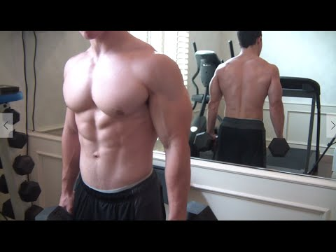 Chest muscle growth time lapse
