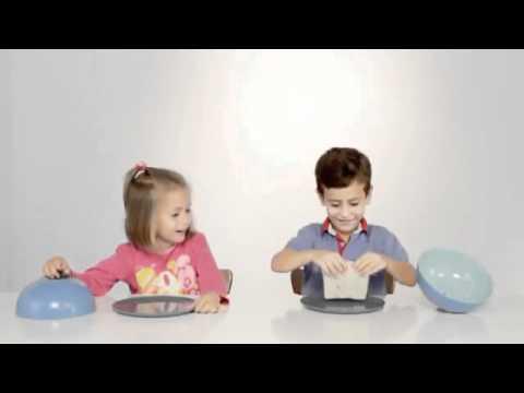 Reação de crianças a prato cheio/vazio