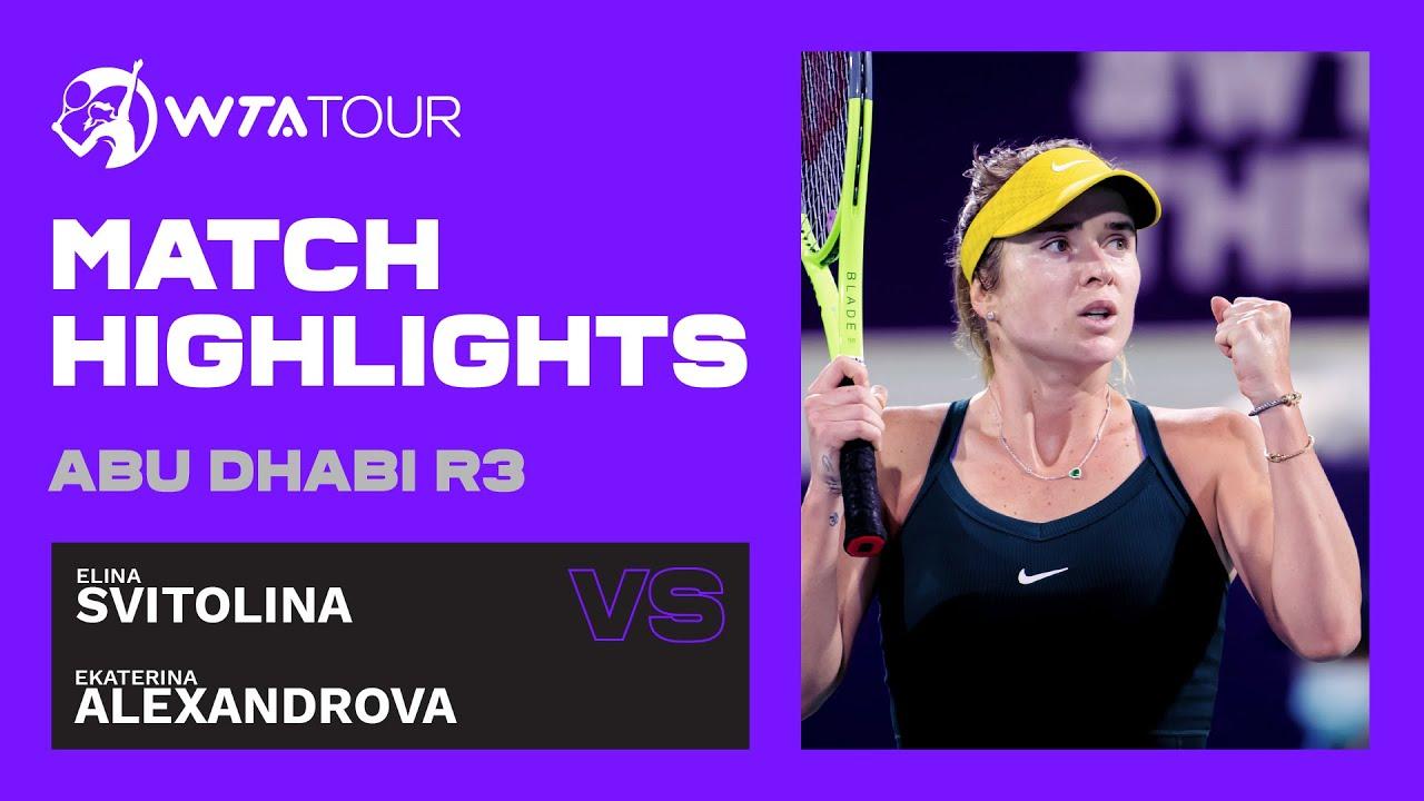 Elina Svitolina vs. Ekaterina Alexandrova | 2021 Abu Dhabi Third Round | WTA Highlights