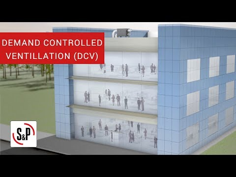 How does it work a demand controlled ventilation system (DCV) for homes and buildings?