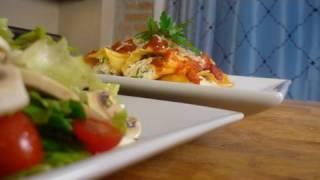 Veggie Stuffed Manicotti & Simple Tossed Salad