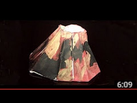How to make a Paper Volcano