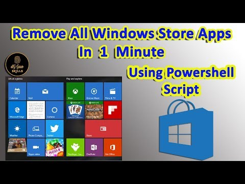 Remove And Restore the Windows Store App by powershell Script - Windows 10
