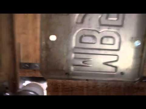 DIY Cat Door Inside View