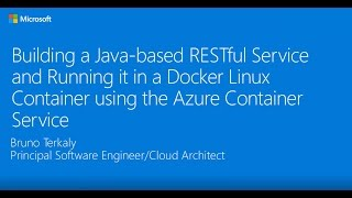 Building a Docker Containerized Java-based RESTful Service using DC/OS