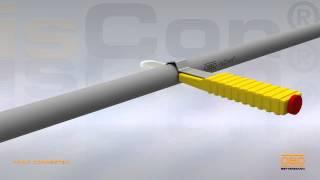Изолированный молниеотвод OBO isCon - снятие изоляции