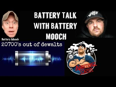 AV Live with Battery Mooch on Batteries | 20700's Out of Dewalt Packs